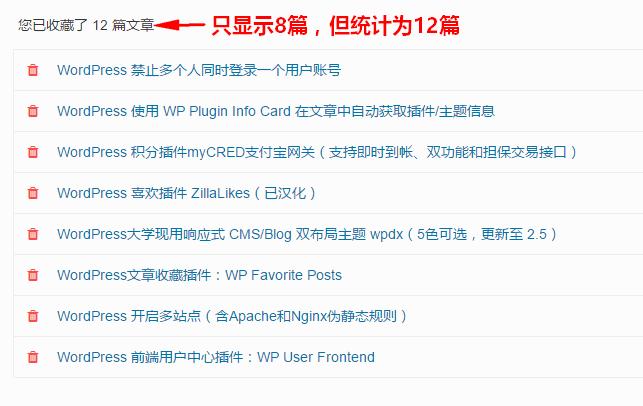 WordPress文章收藏插件:WP Favorite Posts