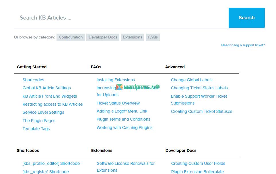 WordPress 客户工单支持/知识库文档系统 KB Support-轻语博客